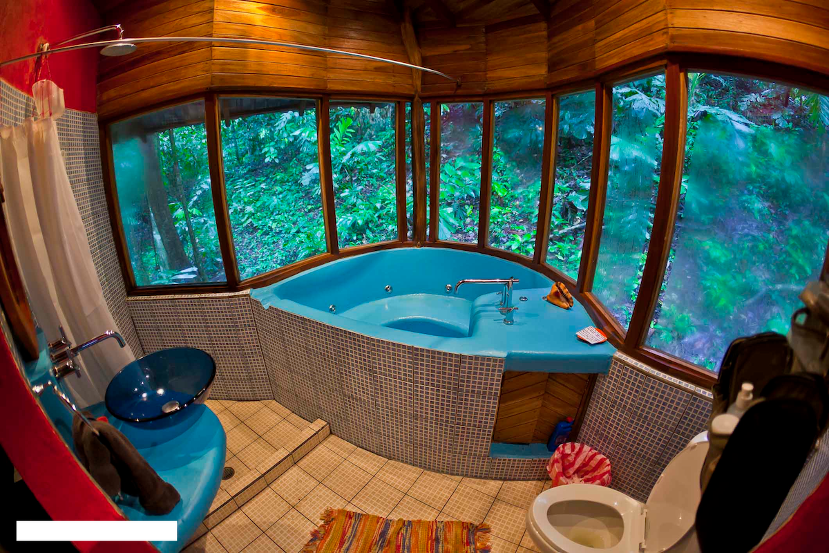 bathroom with private jacuzzi