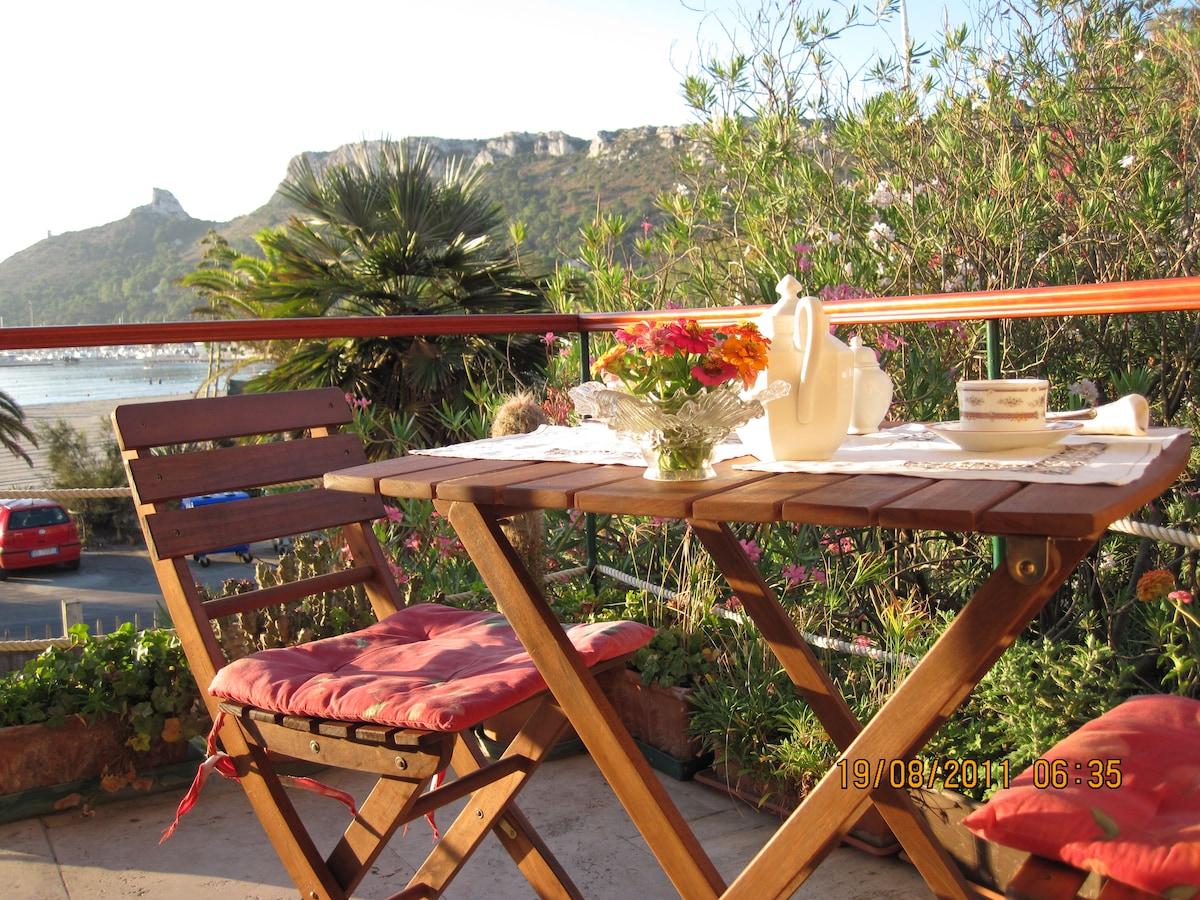 vista dal balconcino della prima colazione