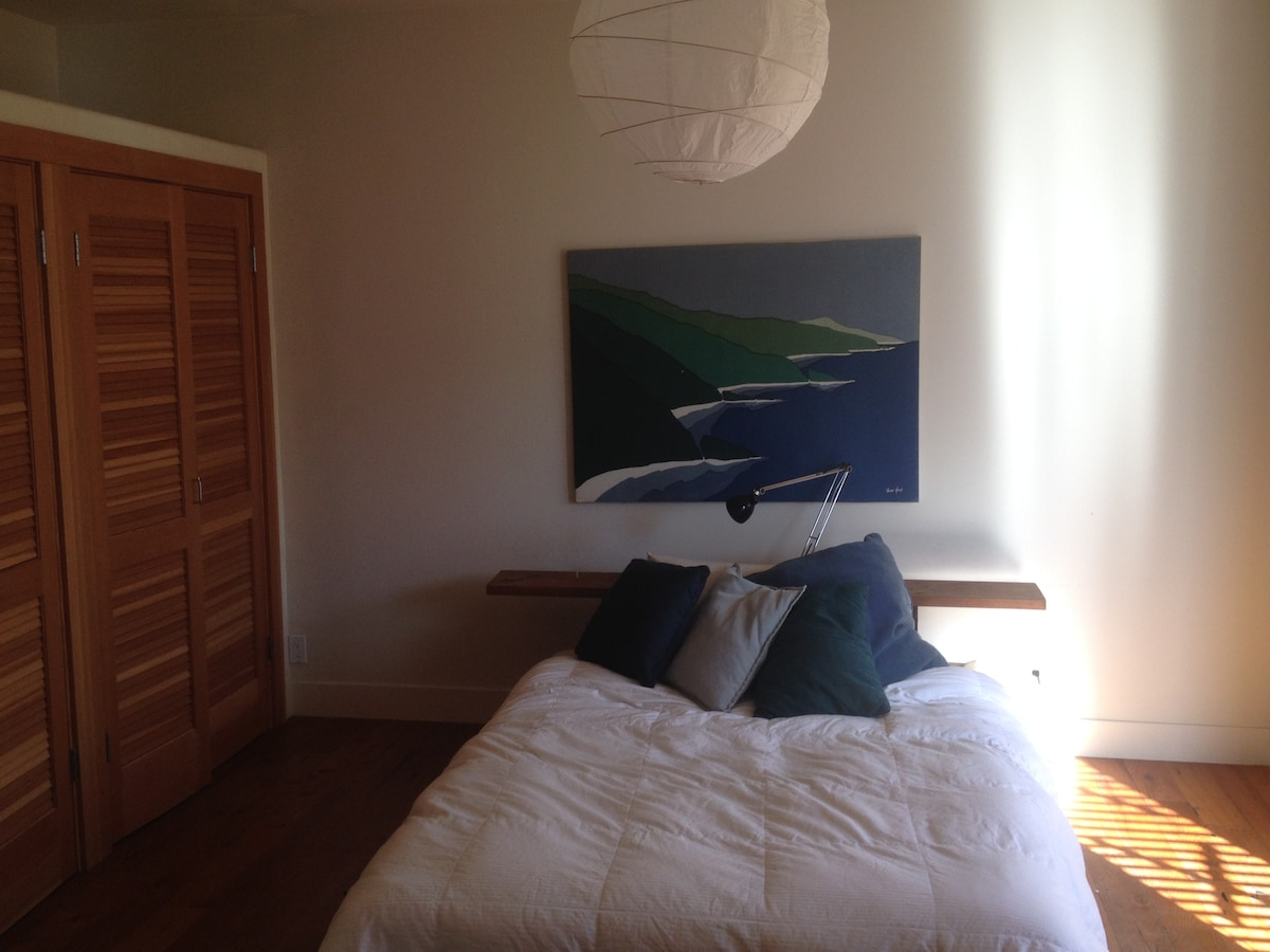 master bedroom with morning light