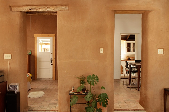 Adobe walls, and sealed brick floors in the 2nd bedroom & Dining room