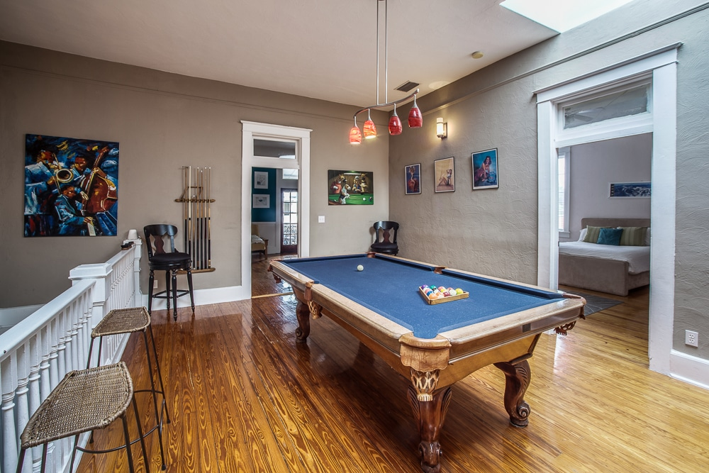 Regulation size pool table for games with friends and family