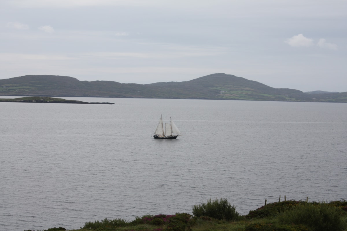 View from front of house, overlooking Dunmanus Bay.