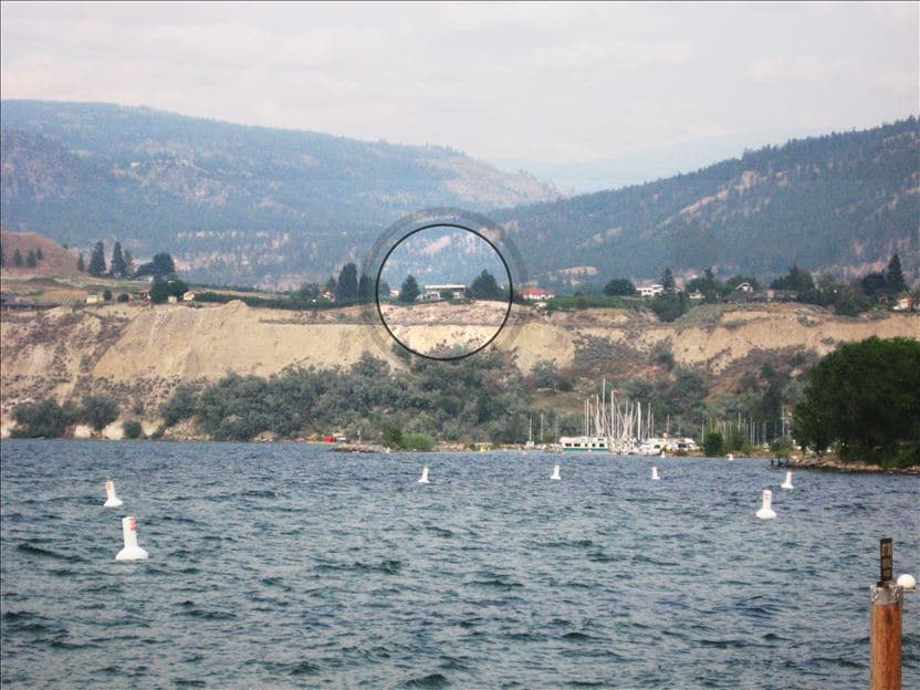 From Penticton's  beaches you can't identify this spectacular location of Villa Orion Penticton.
