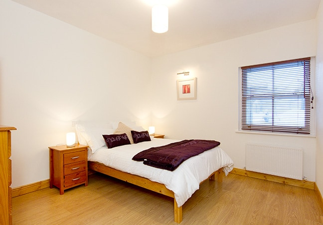 Main bedroom with double and a single bed