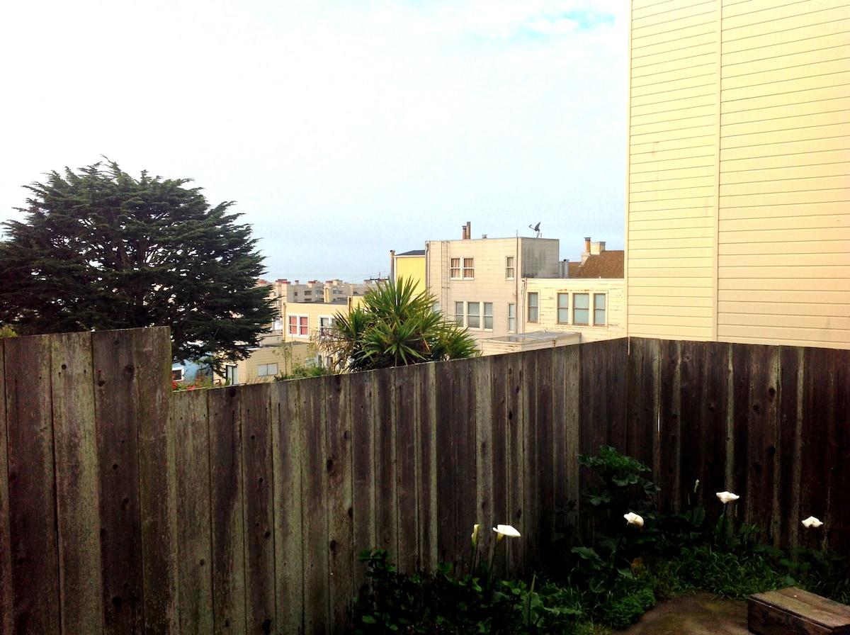partial ocean view from bedroom!