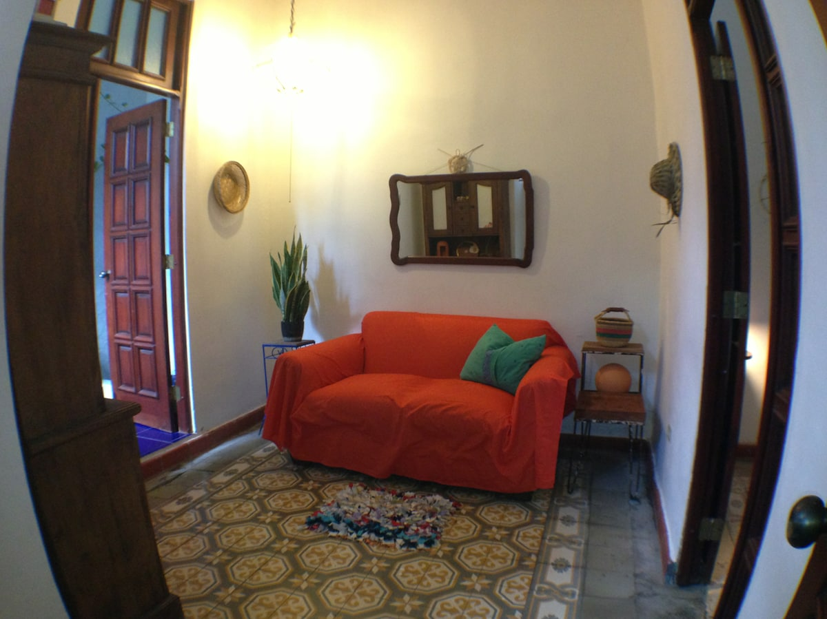 Second room, now a living room, but it can be converted into a second bedroom
