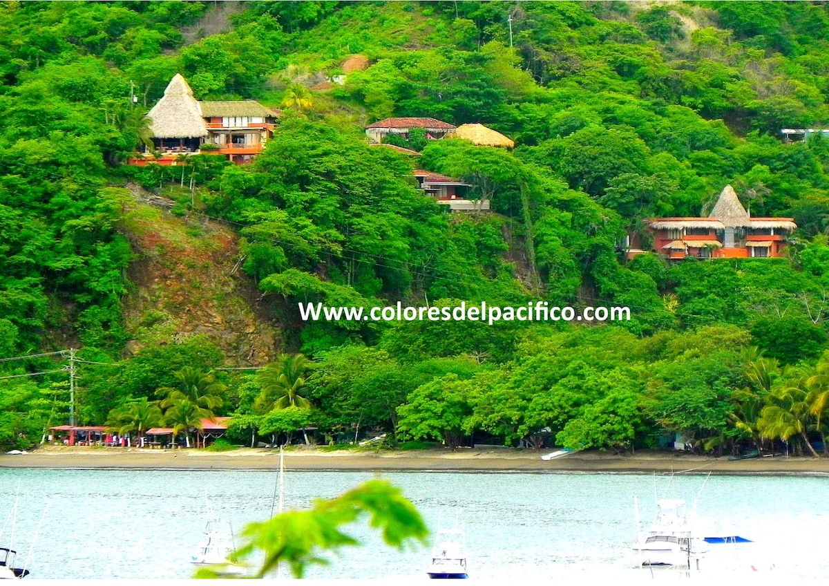 Overview of Colores del Pacifico on the hill above the ocean.