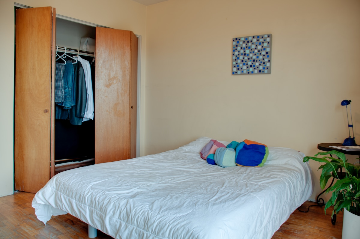 Spacious private room with big closet and queen size bed.