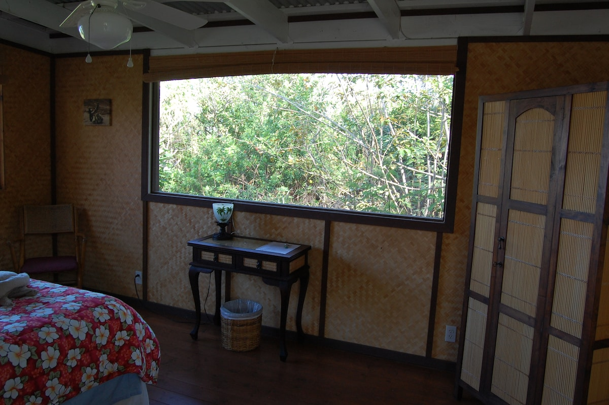 A nice sized room which provides jungle views to watch our local birds.