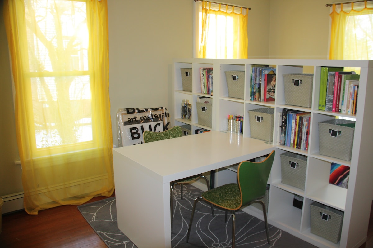 The NEW Siesta Studio - half sleeping space/half office or bistro area.