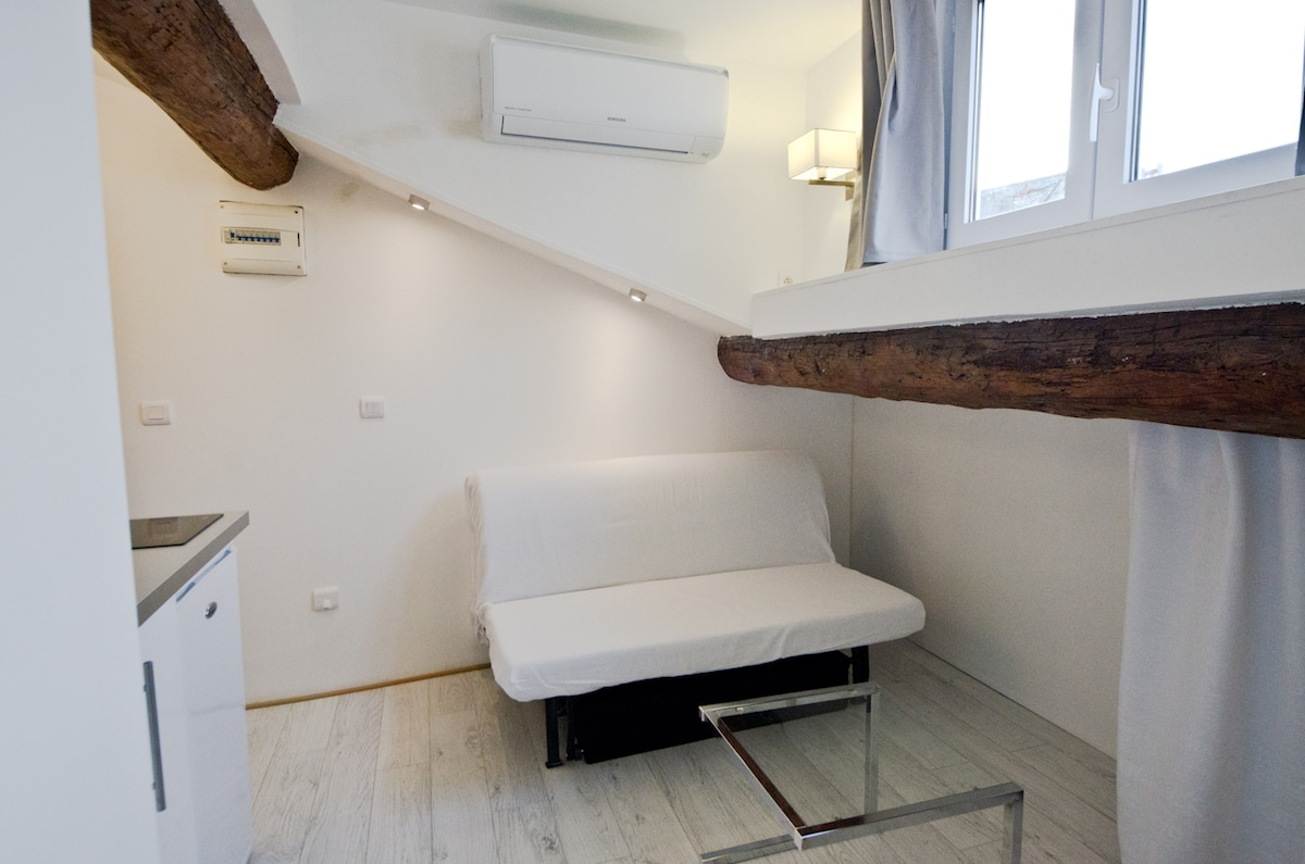 The sofa bed for 2 persons
