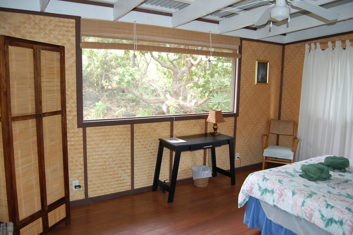 A nice sized room that provides jungle view to watch local birds.