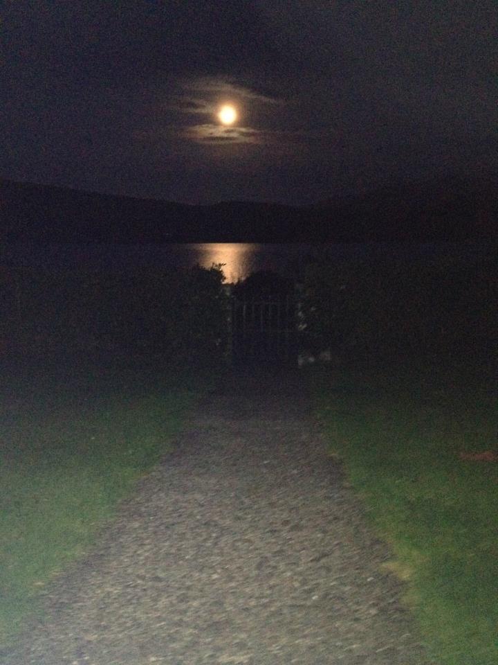 Full moon on lake at night!