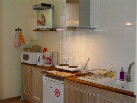 The kitchen is spotless, modern and everything you would expect from rated apartments
