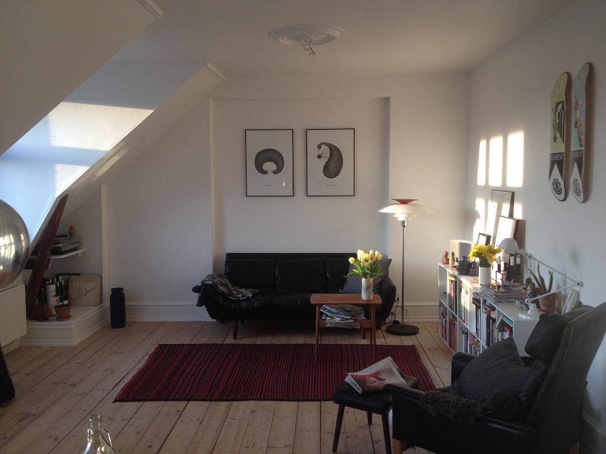 Lovely apartment in cool Copenhagen
