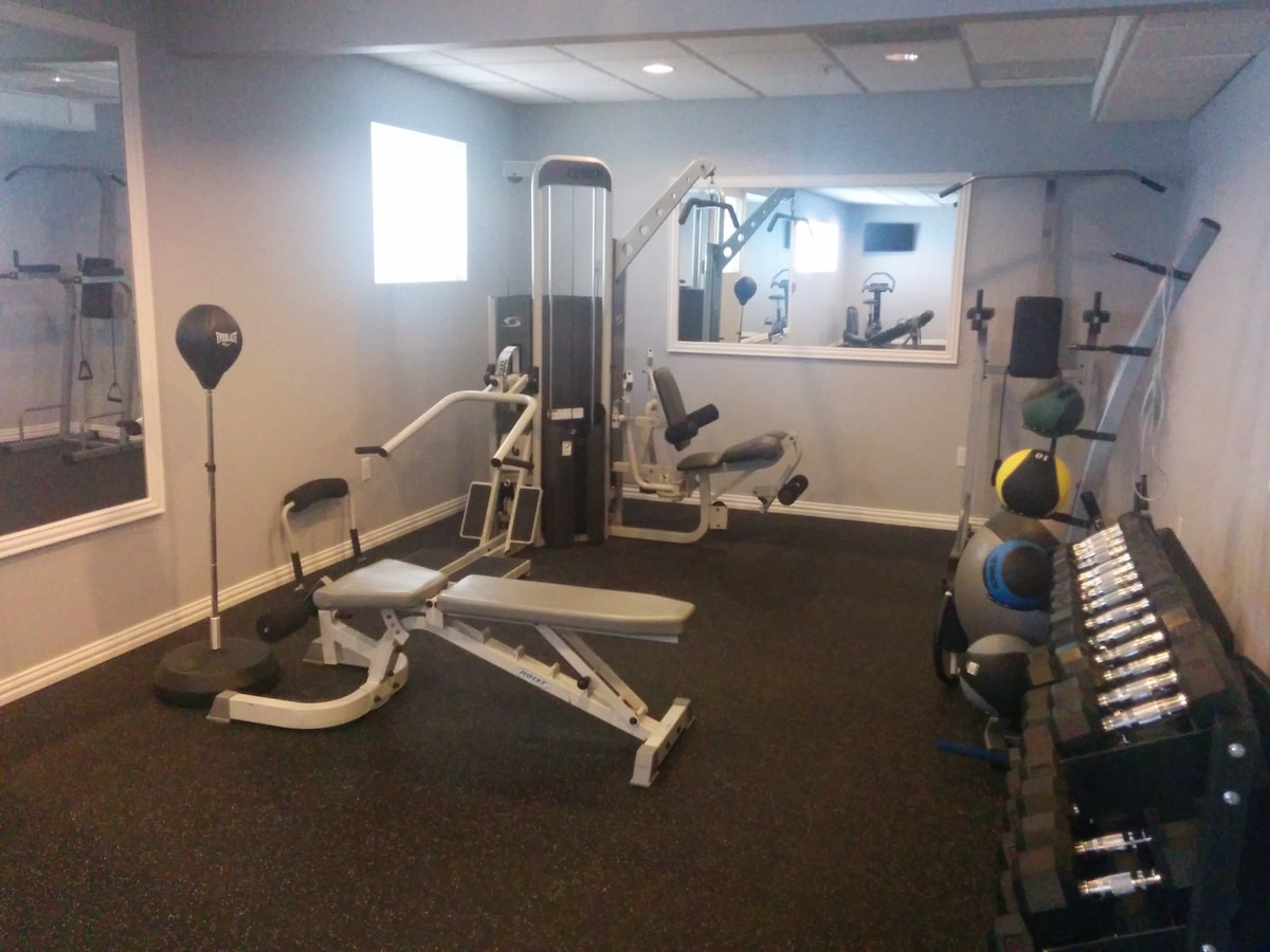 Gym renovated in February 2014