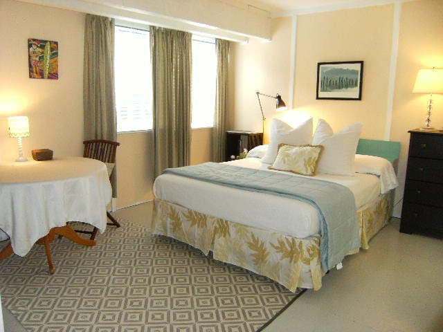 Fresh, clean and cool main level master bedroom