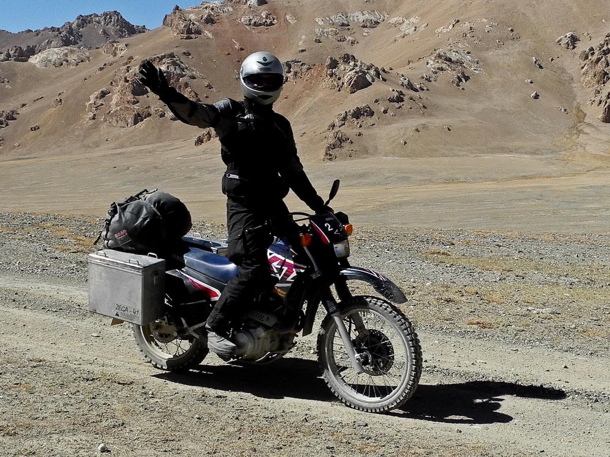 Yamaha XT 600 E in Central Asia