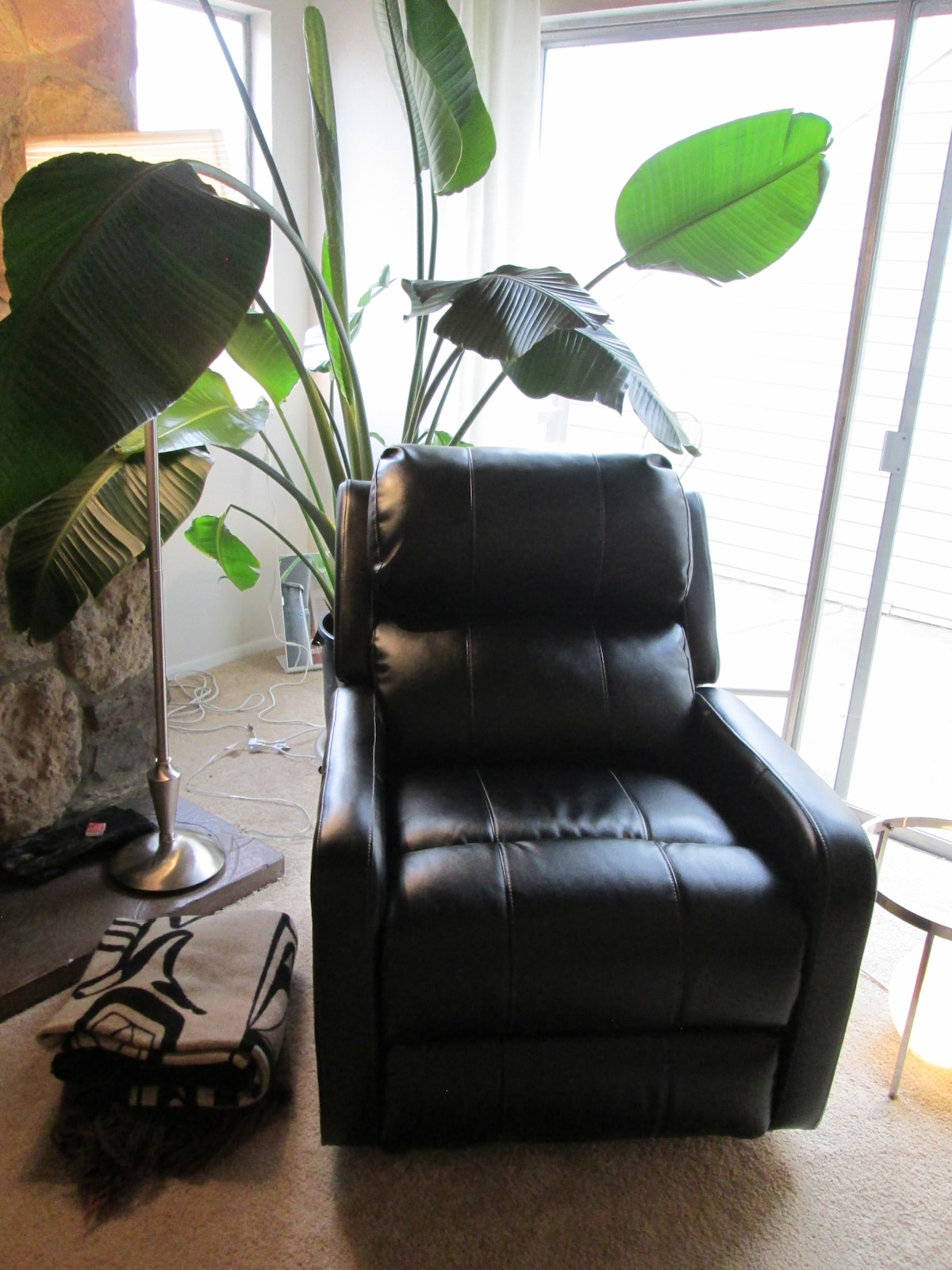 Basque in the morning sun in this oh so comfy recliner!