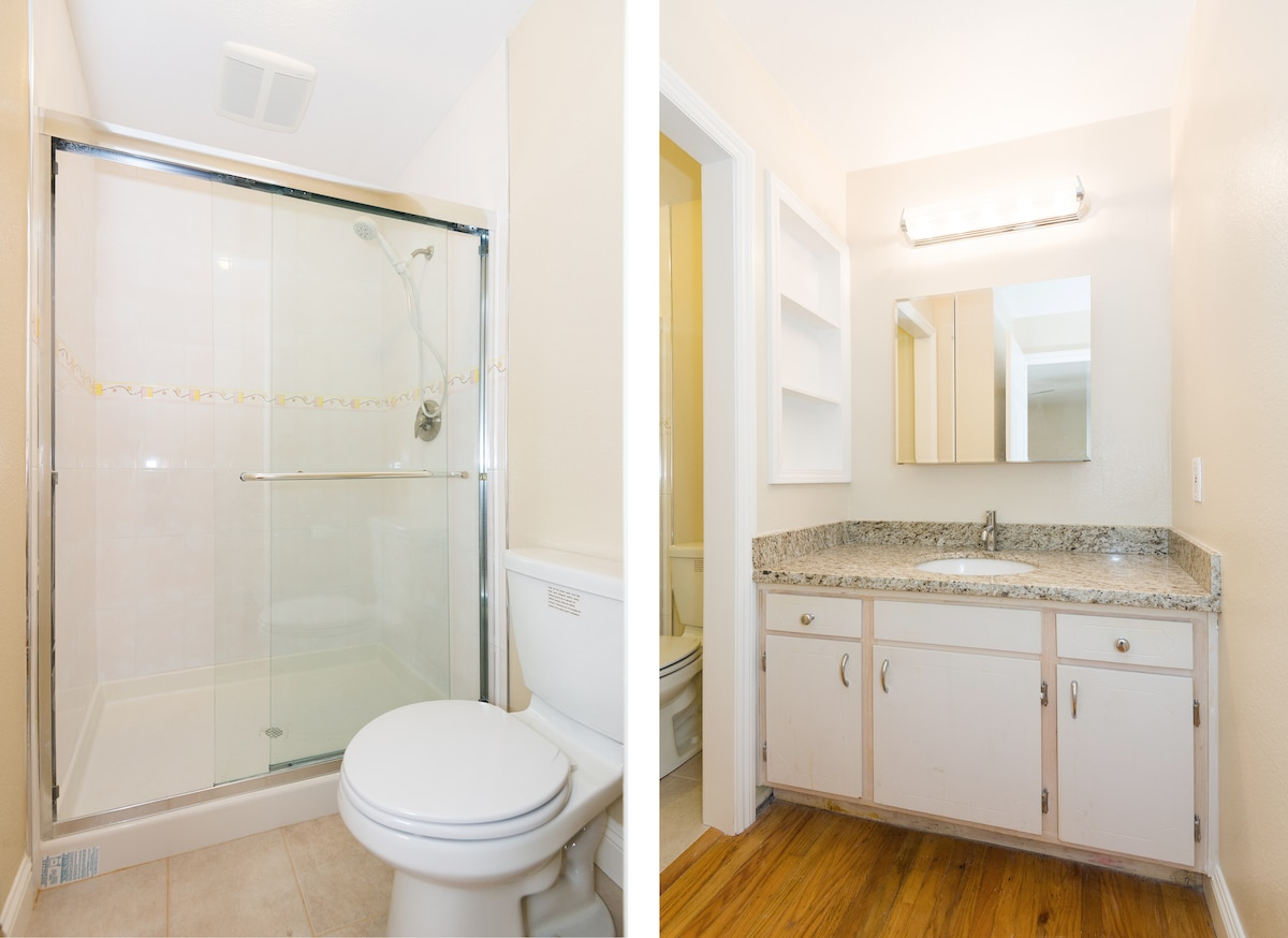 [NO1] master bedroom's own Bathroom:Newly Renovated, Clean and (website hidden) you total privacy.