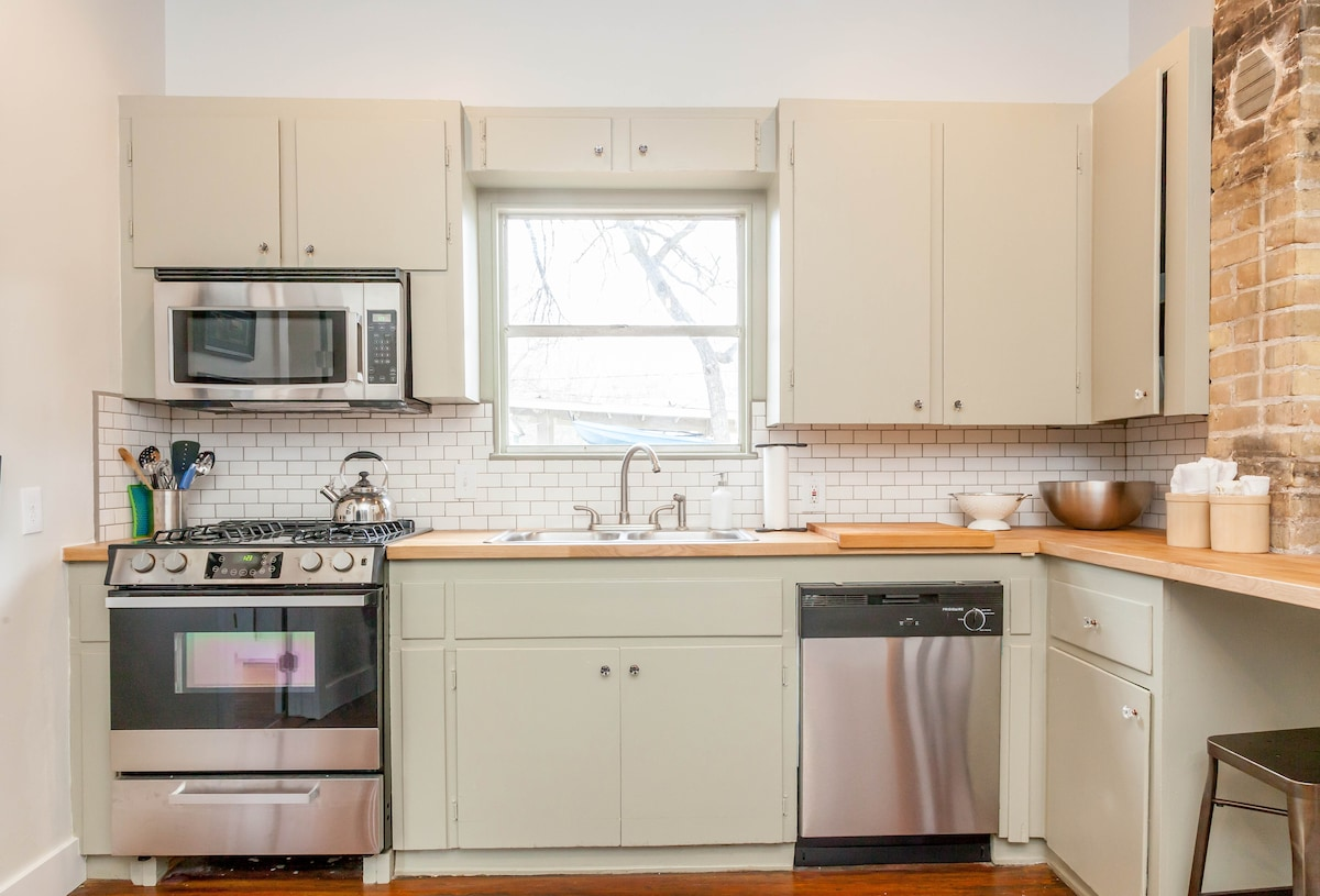 Fully remodeled kitchen with necessities included.