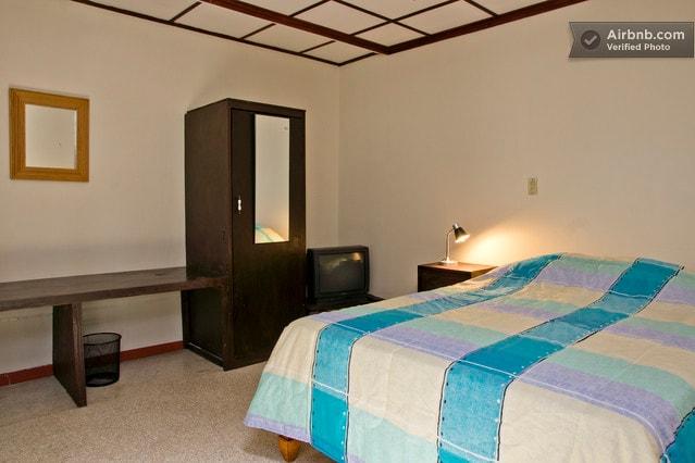 habitación doble, es amplia y cómoda