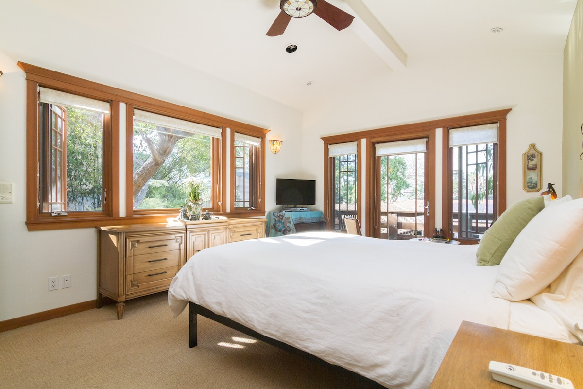 Large Master Bedroom with lots of natural light and great views