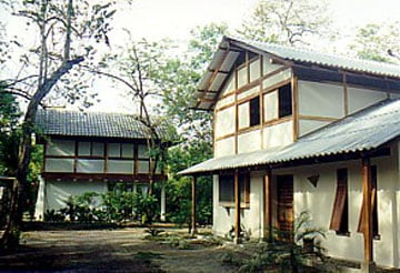 Our Courtyard showing the Two Houses