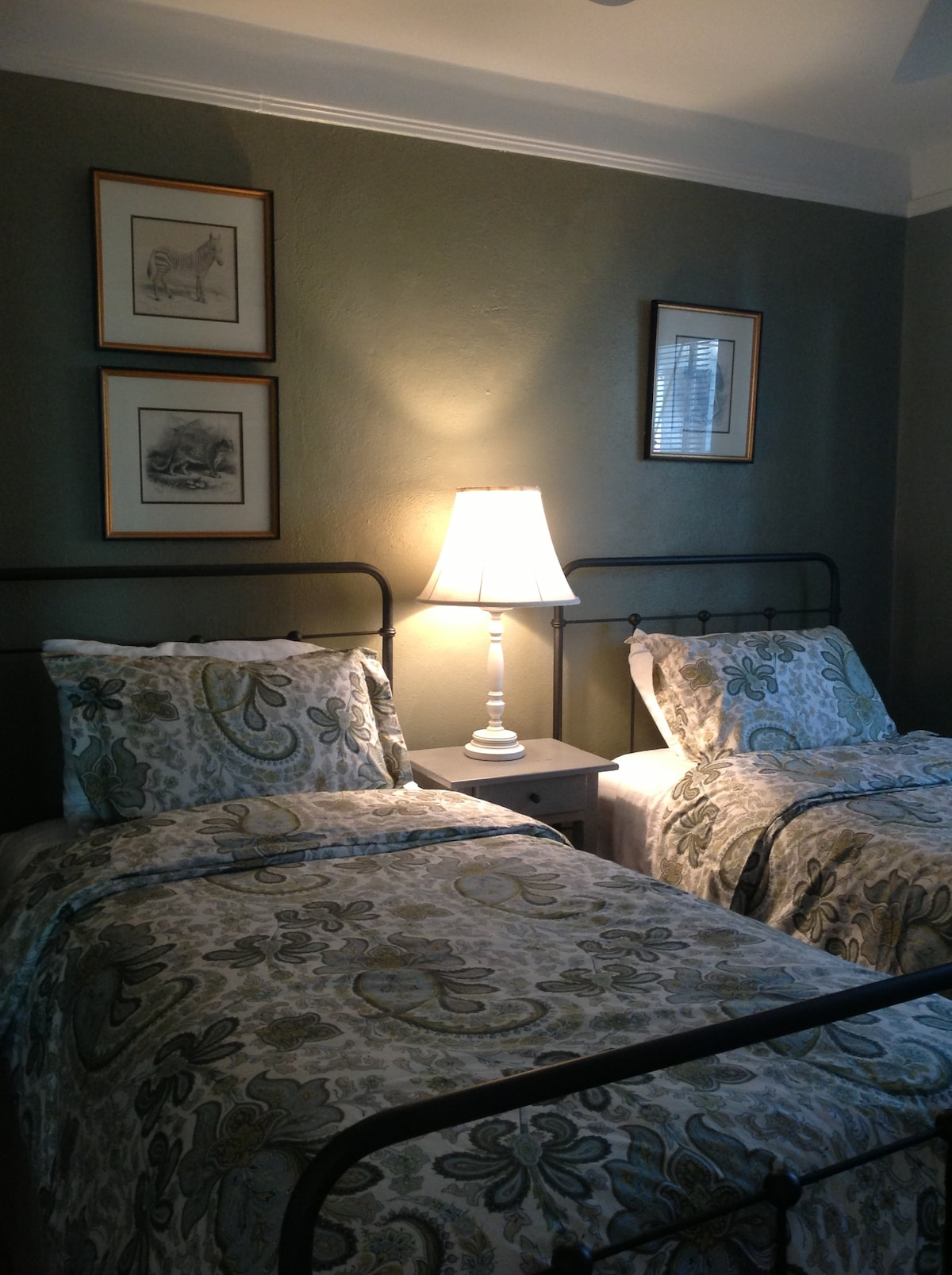 Front bedroom with Twin beds.