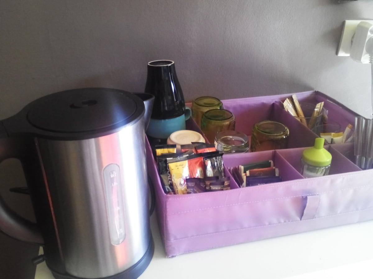 Minibar included:-) for tea , coffee and More...