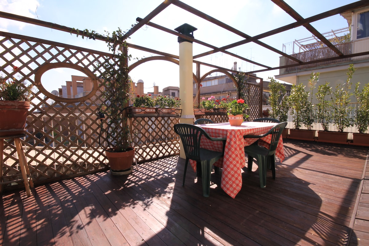 Private Terrace Winter Time