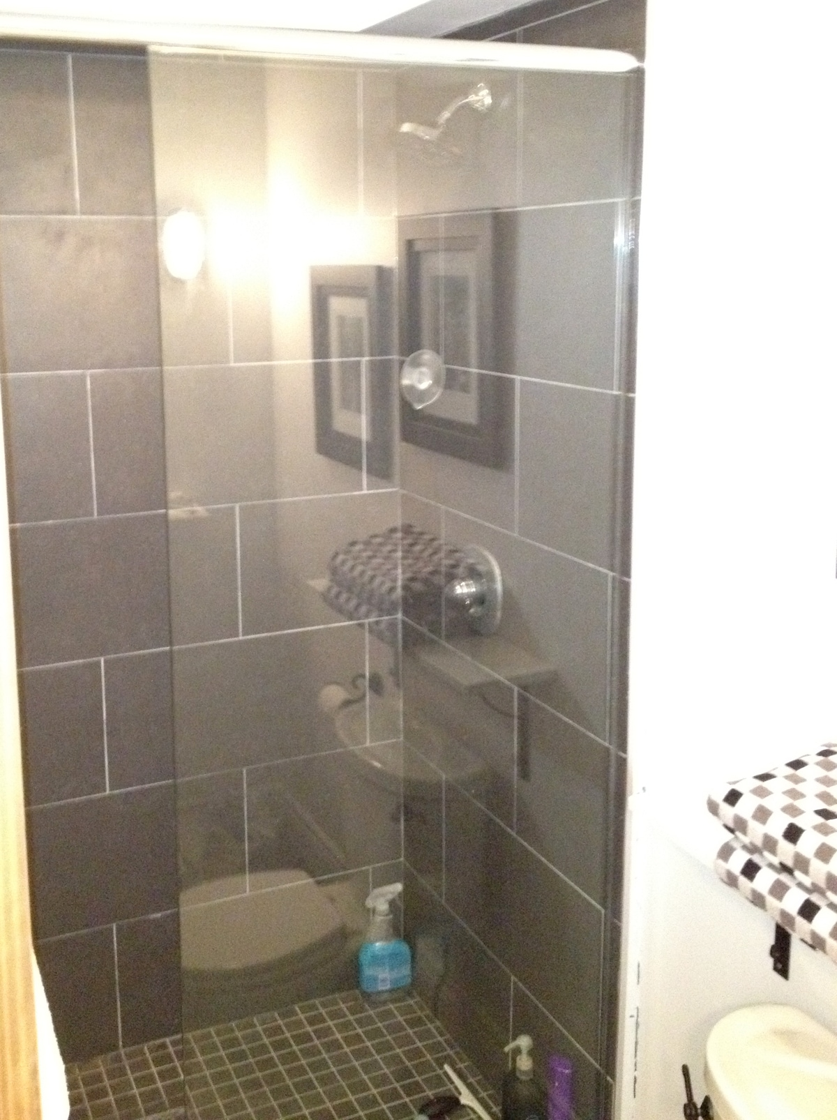 Double Shower Glass