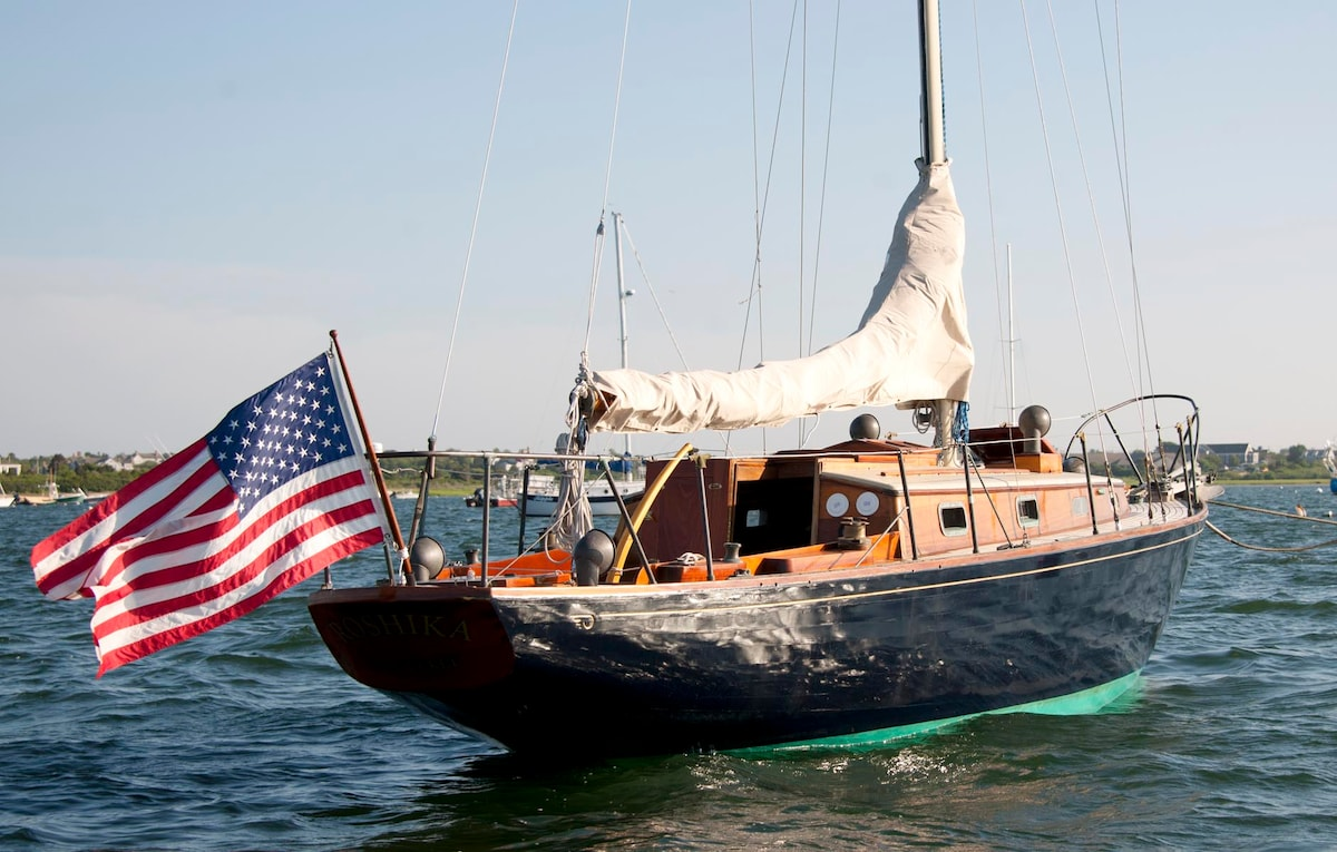 Nantucket Island on classic yacht