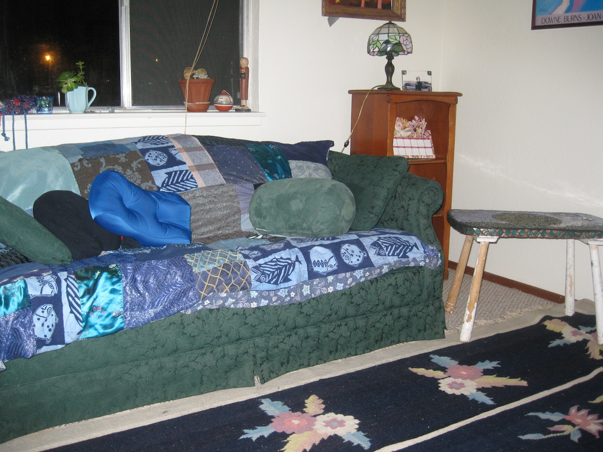 Part of one of the living rooms.