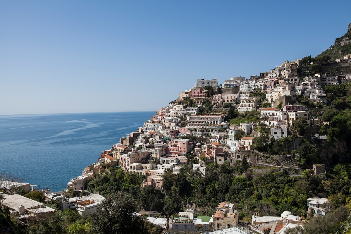 Positano view from the terrace