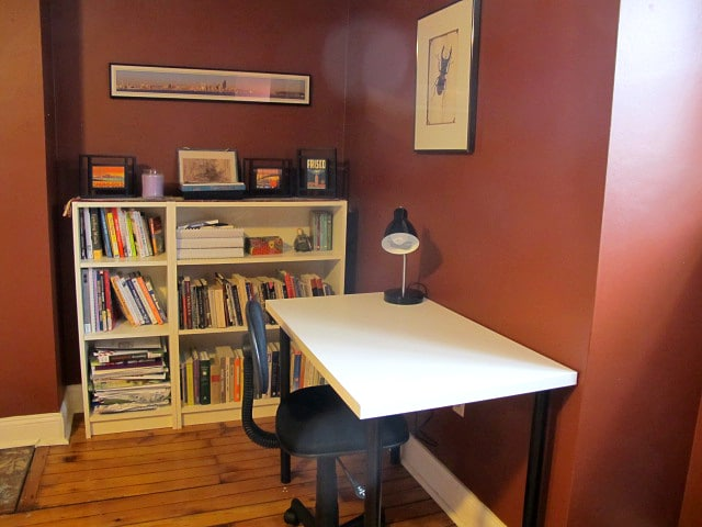 Workdesk, chair, & lamp