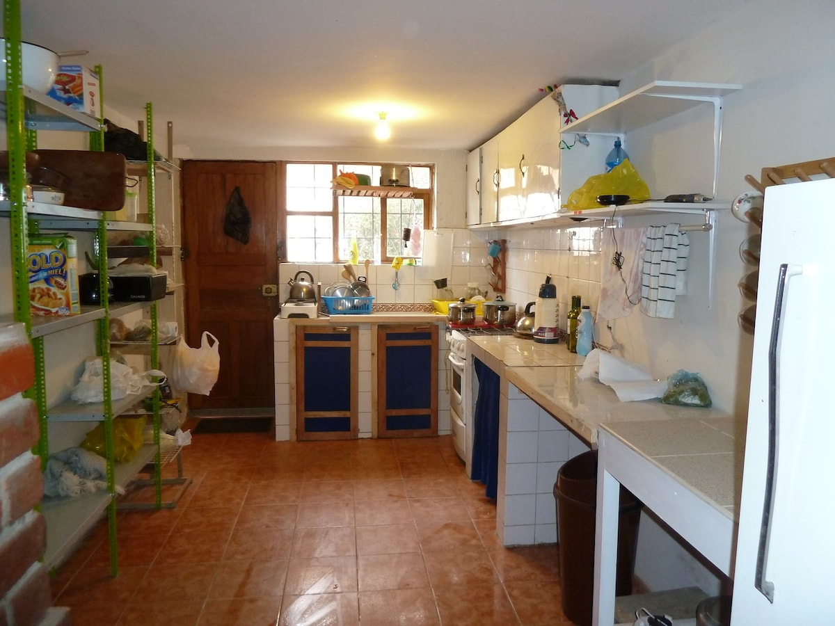 Large & well equipped kitchen