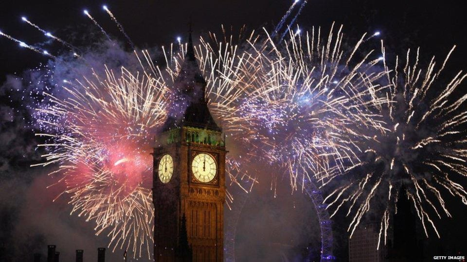 Big Ben at Houses of Parliament - New Years Eve (walking distance from the Apartment)