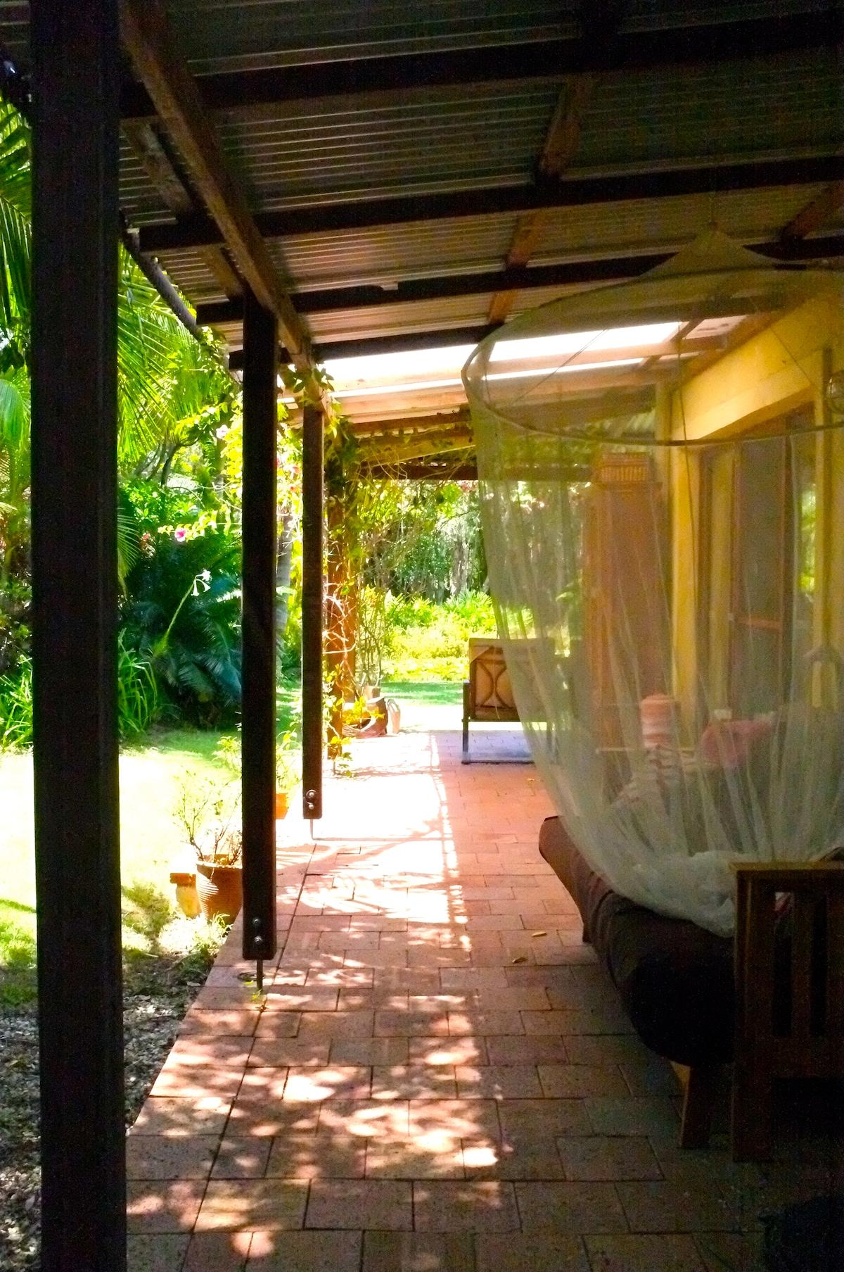 Western side private verandah