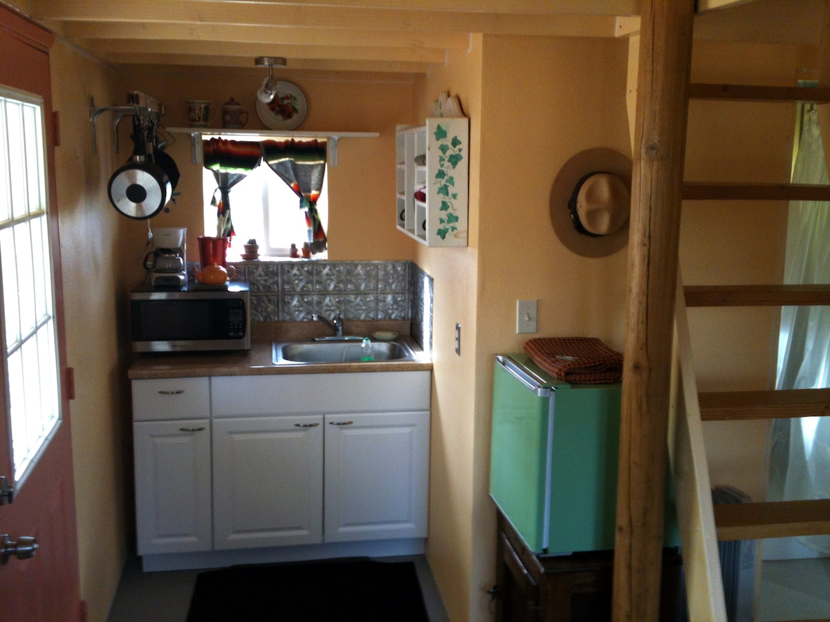 Kitchenette with microwave and mini fridge