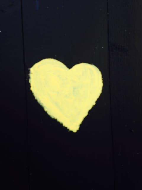Follow the yellow heart door, its your way in