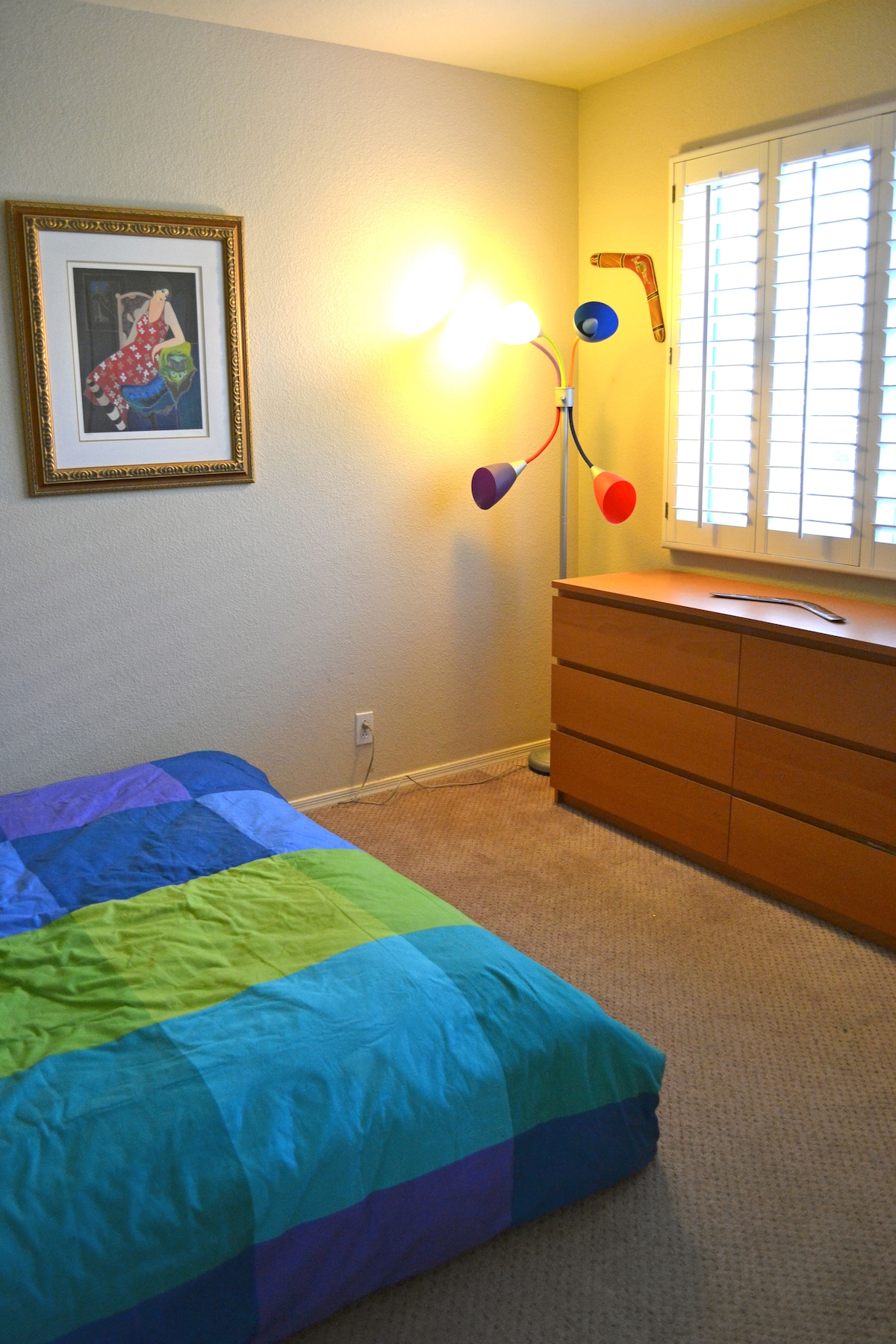 This is the bedroom available.