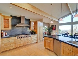 The fully equipped gourmet kitchen.  You are welcome to use it.