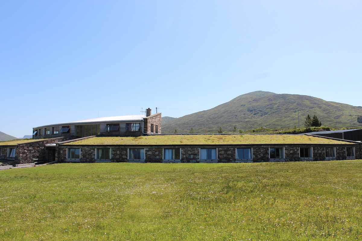 This is our building the K2 from the front, with all rooms facing the Fjord.
