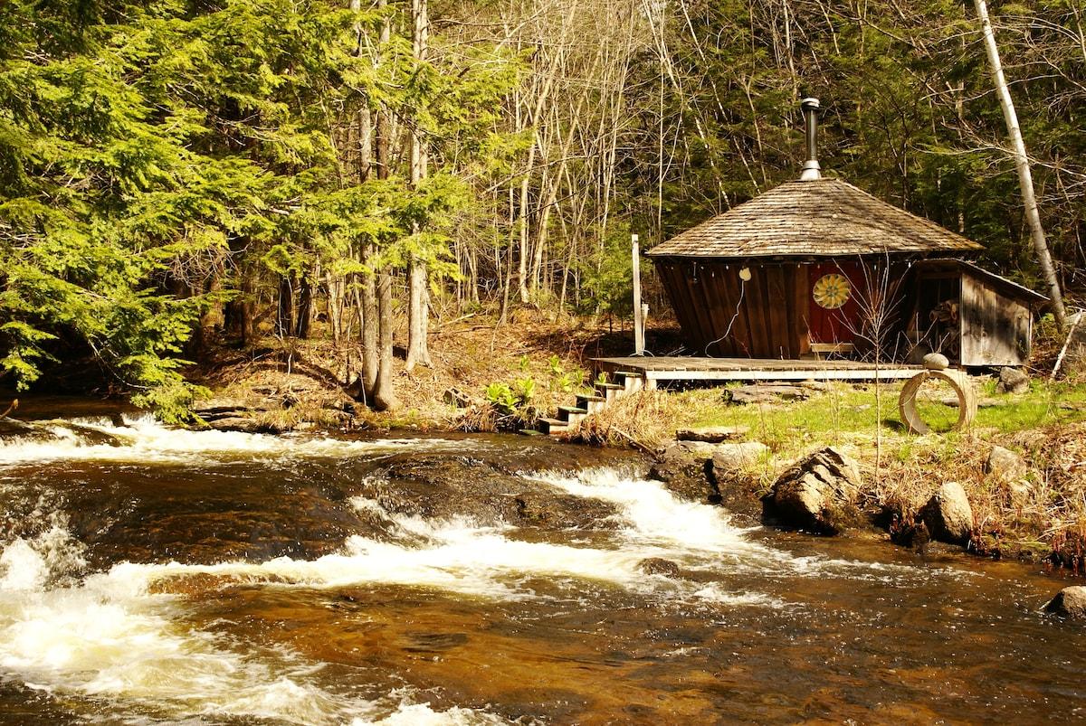 Yurt inspired NH retreat