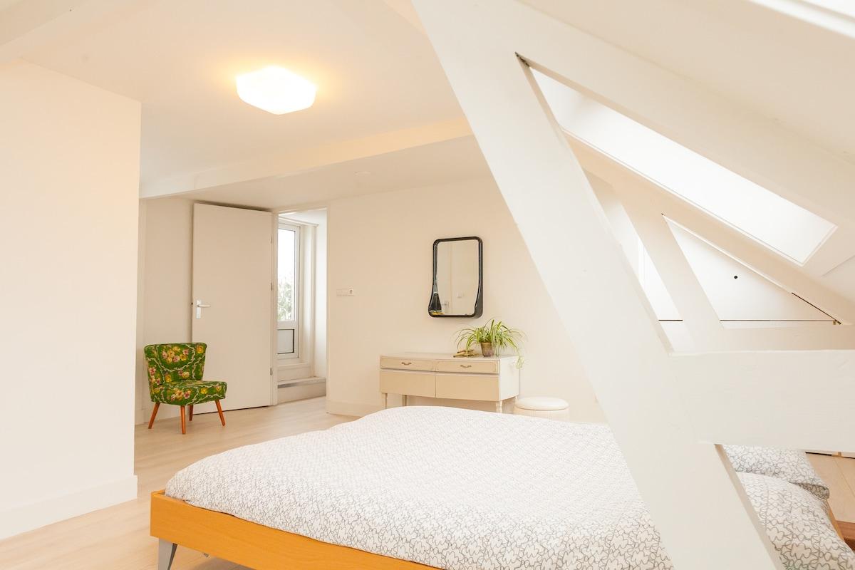 Bedroom with door to great roof terrace!