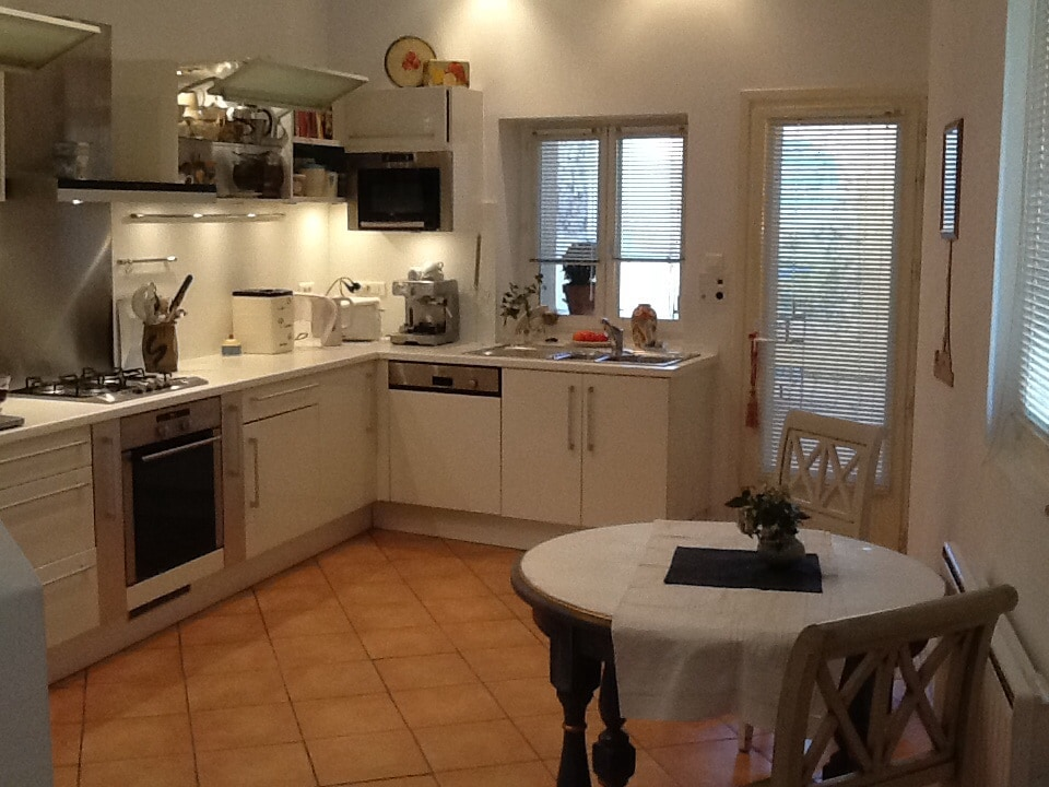 Gourmet Kitchen with Dishwasher & Microwave.