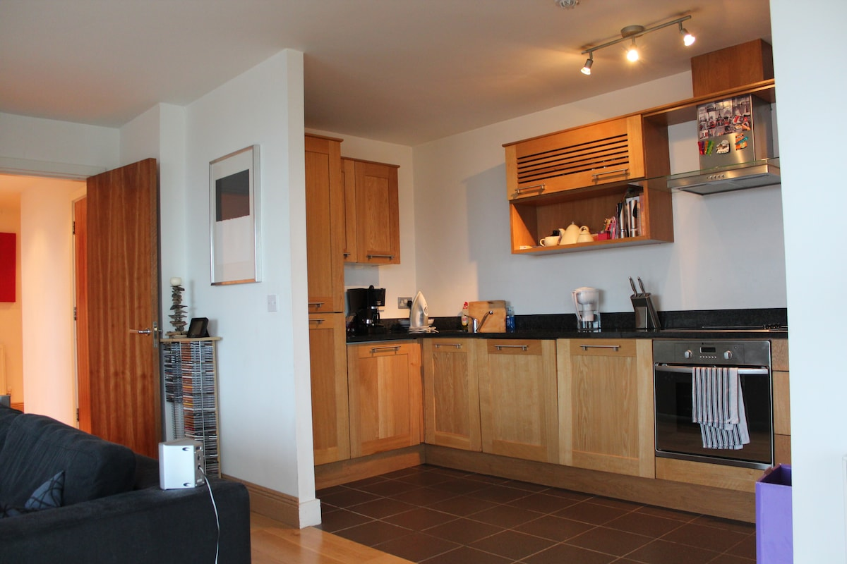 Bright and clean kitchen (just off living area) with all modern conveniences.