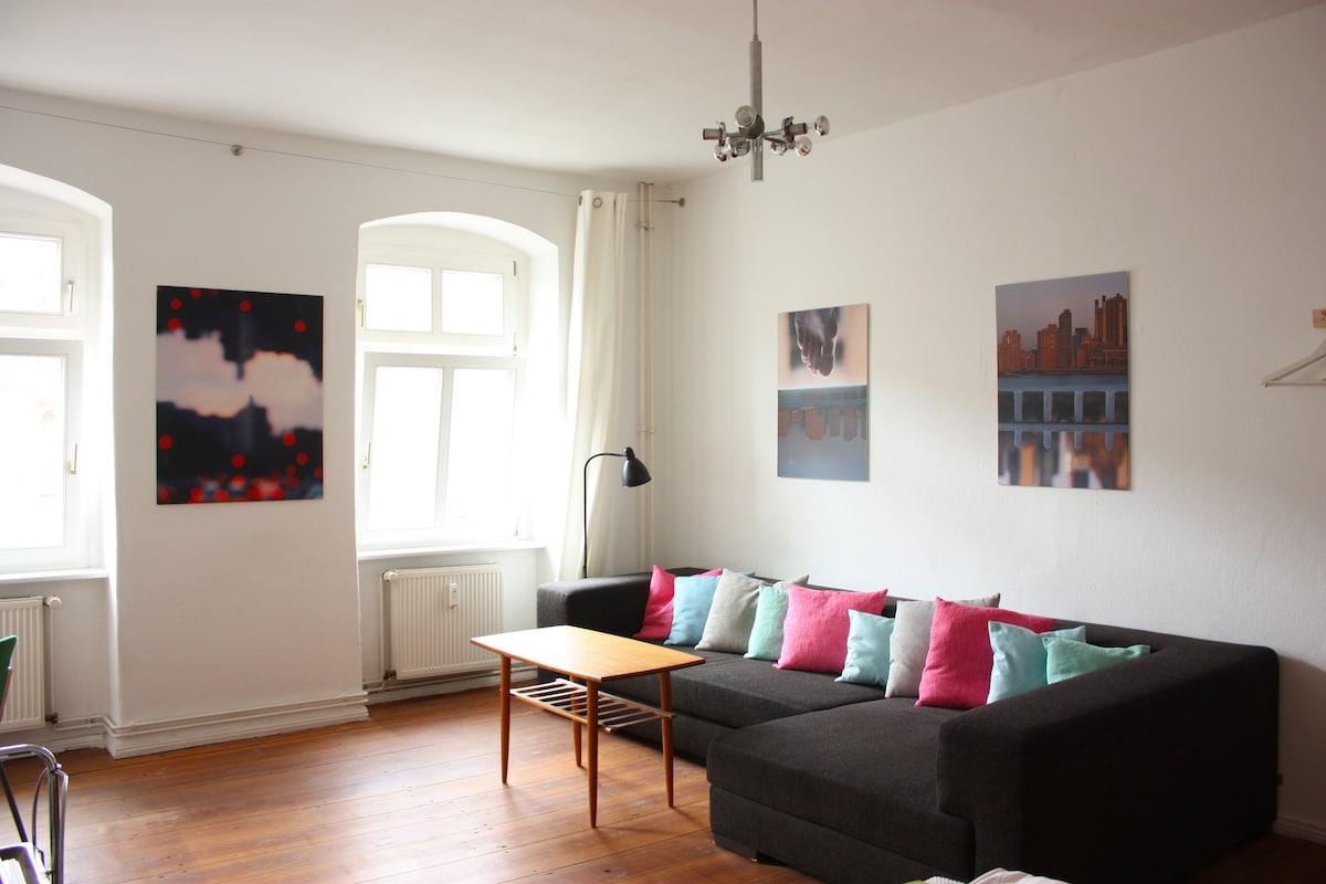 huge sofa in   bedroom 1