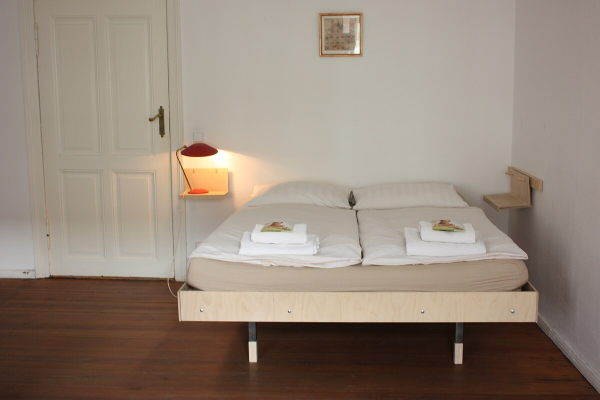 double bed built by pruductdesigners in bedroom 1